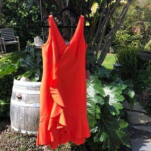 Vince Camuto orange sexy dress 12